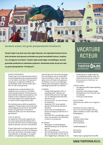 Vacature Acteur Odyssee
